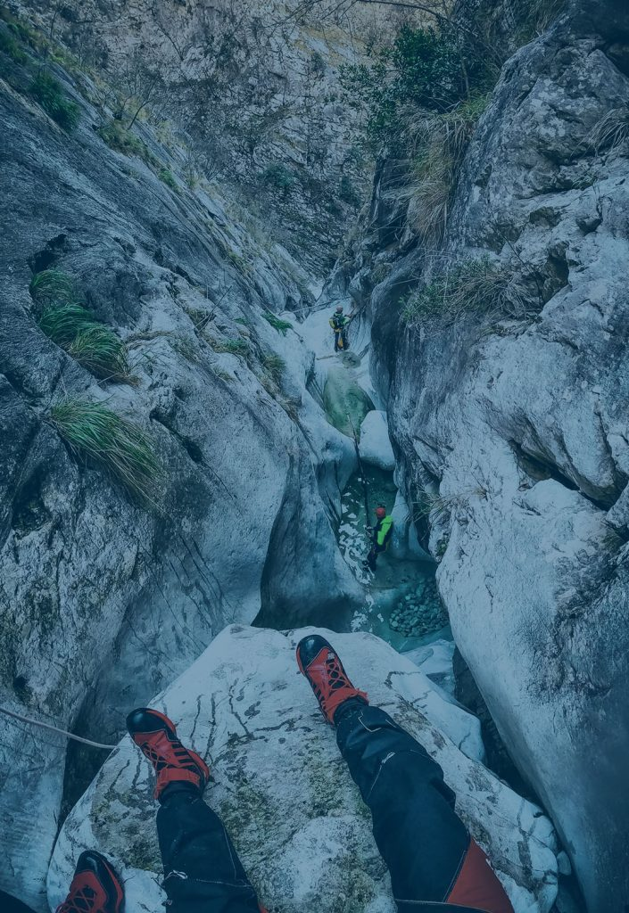 Canyoning toscana, canal pianone